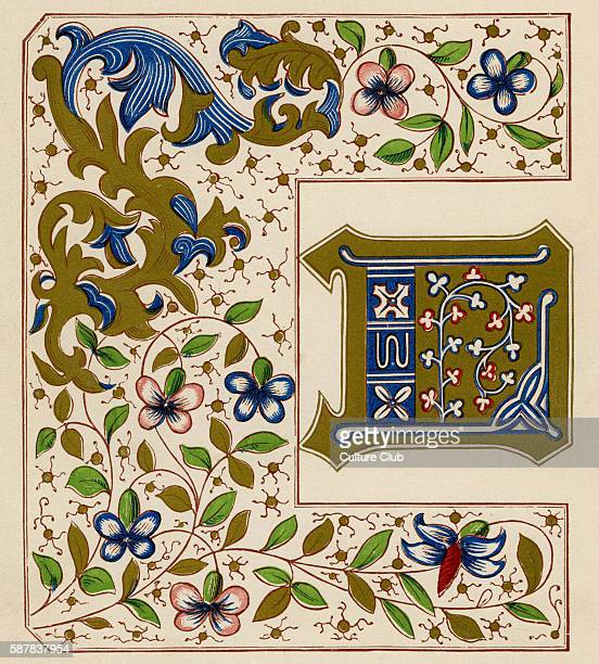 Illuminated letter D from the Chronicles of England Edward IV