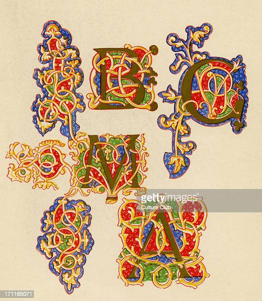 Illuminated Letters A B C And M Pictures Getty Images