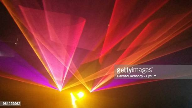 illuminated lights at nightclub - stage light stock pictures, royalty-free photos & images