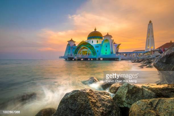 Illuminated Melaka Straits Mosque