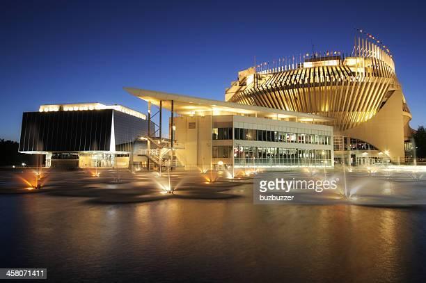 Illuminated Montreal Casino Building at Sunset