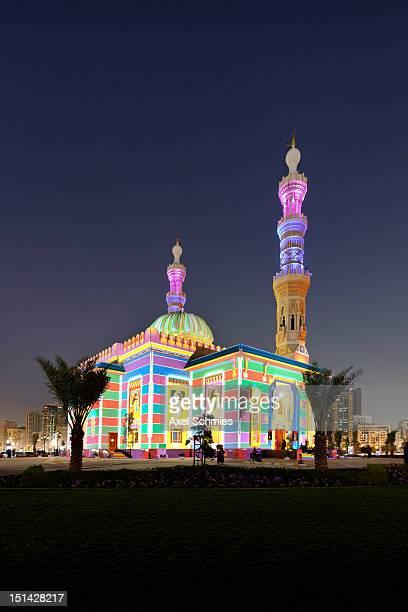Illuminated mosque