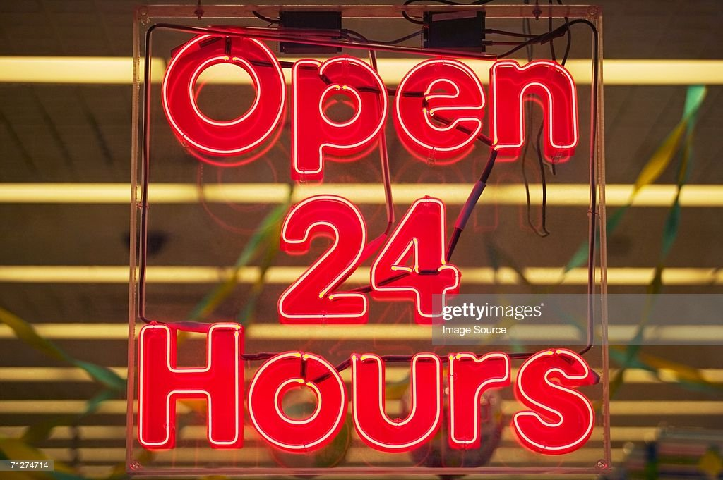 Illuminated neon sign in new york : Stock Photo