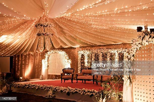 Illuminated of wedding stage