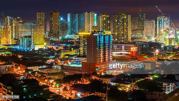 Illuminated Panoramic Landscape of Manila