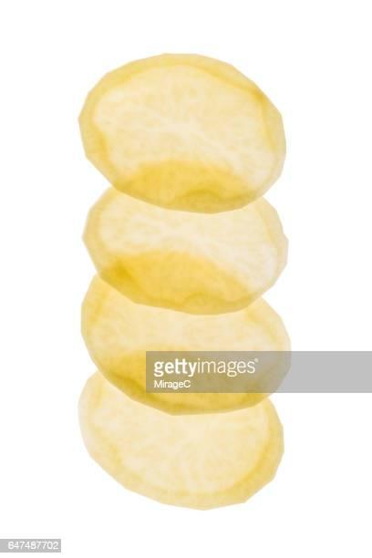 Illuminated Potato Slices