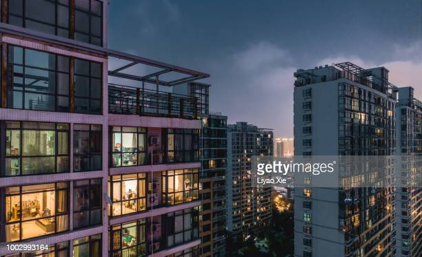 Illuminated residential building