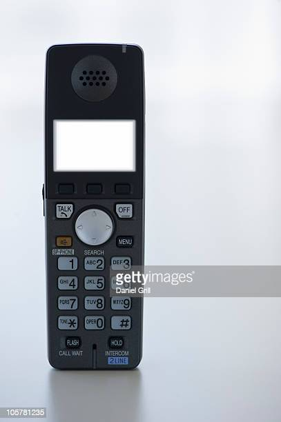 Illuminated screen on telephone