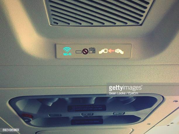 Illuminated Signs In Airplane