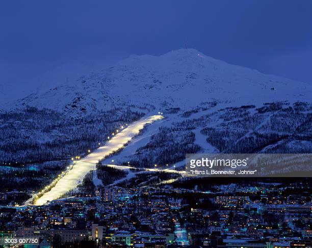 Illuminated Ski Slope