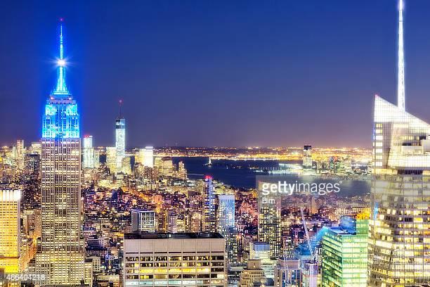 Illuminated Skyscrapers, Manhattan, New York