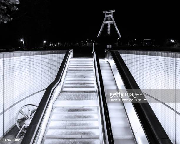 illuminated staircase at night - ruhr stock pictures, royalty-free photos & images
