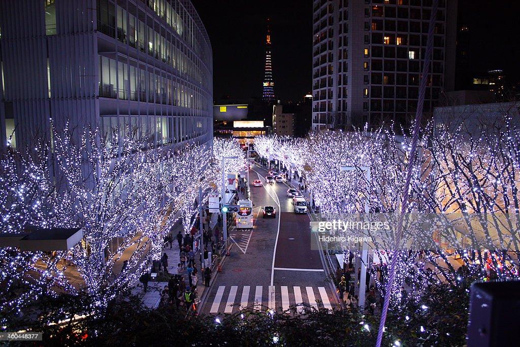Illuminated Street : ストックフォト