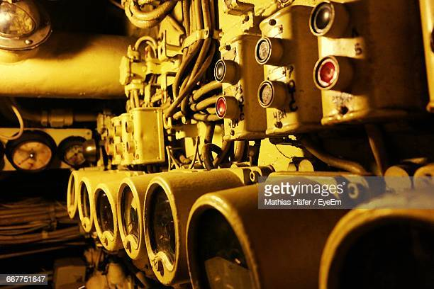 Illuminated Submarine Engine Room