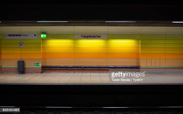 Illuminated Subway Station