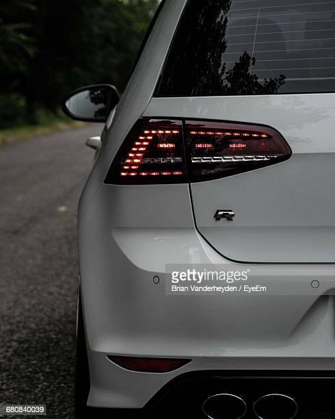 Illuminated Tail Light Of Car