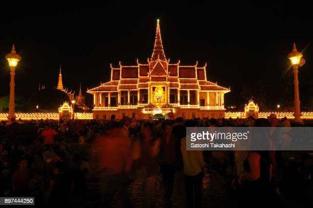 Illuminated the Royal Palace in celebration of the Water Festival boat race on the Tonle Sap river The country's annual threeday Water Festival...