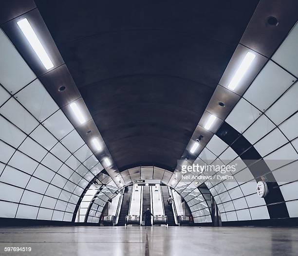 Illuminated Tunnel At Tottenham Court Road Tube Station