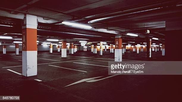 Illuminated Underground Parking Lot