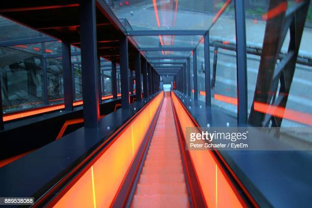 illuminated underground walkway - ruhr stock pictures, royalty-free photos & images