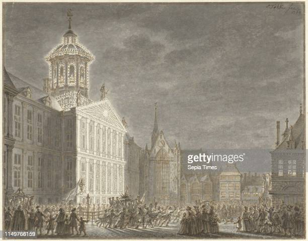 Illuminati of the City Hall for William V and Wilhelmina of Prussia Simon Fokke 1769