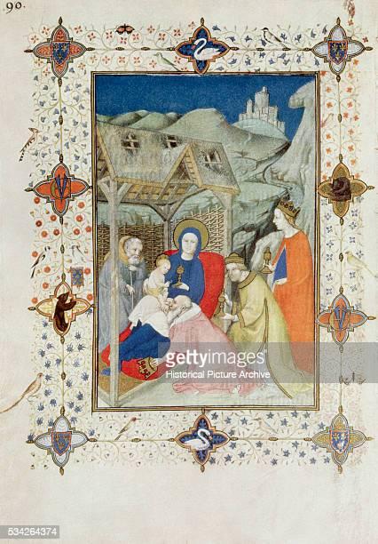 Illumination Adoration of the Magi by Jacquemart de Hesdin