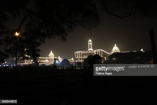 JANUARY 29 Illumination through a tree canopy To celebrate the sixty eight Republic Day government buildings were specially illuminated with LED...