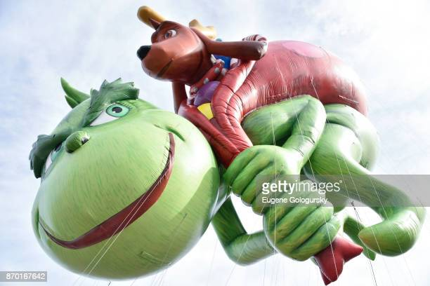 Illuminations presents Dr Seuss' The Grinch debuts as a giant balloon during Macy's Balloonfest ahead of the 91st Annual Macy's Thanksgiving Day...