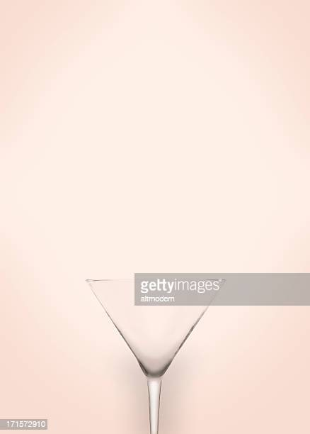 Illusion of a martini glass blending into the background