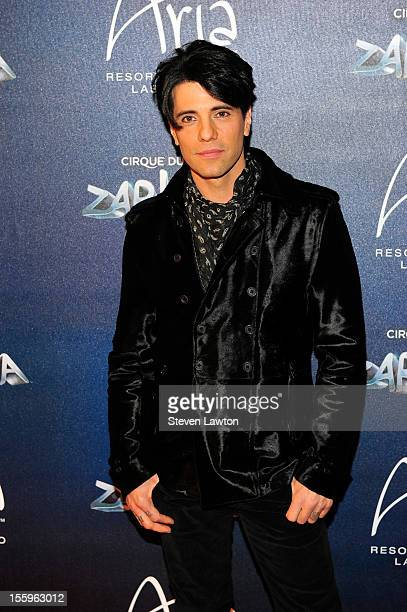 Illusionist Criss Angel arrives at the Las Vegas premiere of 'Zarkana by Cirque du Soleil' at the Aria Resort Casino at CityCenter on November 9 2012...