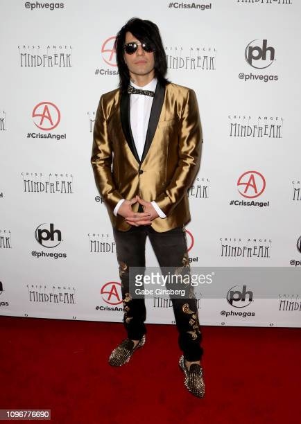 Illusionist Criss Angel attends his grand opening of Criss Angel MINDFREAK at Planet Hollywood Resort Casino on January 19 2019 in Las Vegas Nevada