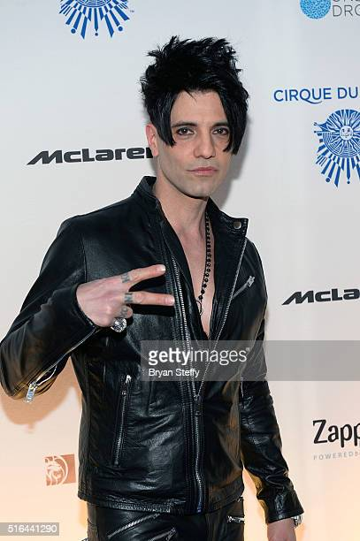 Illusionist Criss Angel attends the fourth annual 'One Night for ONE DROP' imagined by Cirque du Soleil a show that raises awareness and funds for...