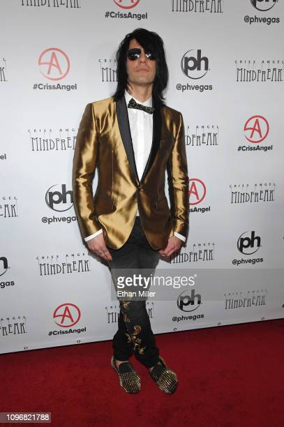 Illusionist Criss Angel attends the grand opening of Criss Angel MINDFREAK at Planet Hollywood Resort Casino on January 19 2019 in Las Vegas Nevada