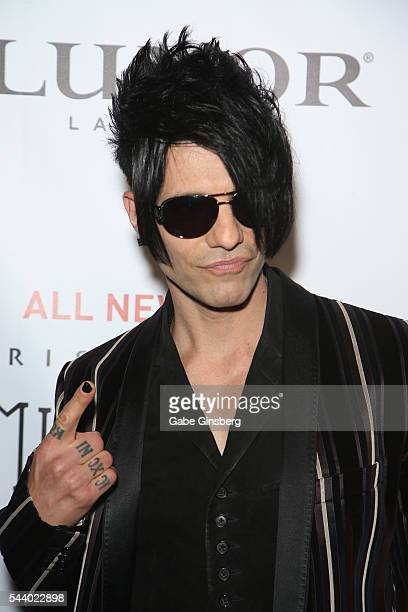 Illusionist Criss Angel attends the world premiere of Criss Angel Mindfreak Live at the Luxor Hotel and Casino on June 30 2016 in Las Vegas Nevada