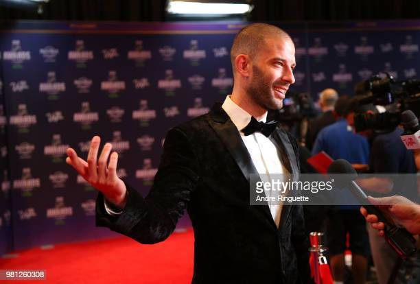 Illusionist Darcy Oake arrives at the 2018 NHL Awards presented by Hulu at the Hard Rock Hotel Casino on June 20 2018 in Las Vegas Nevada