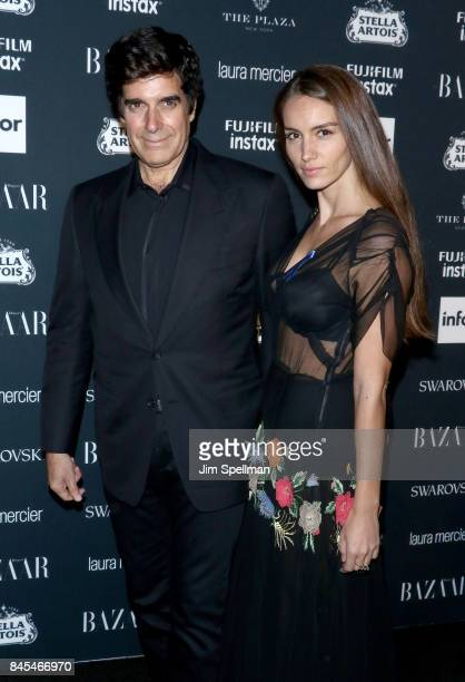 Illusionist David Copperfield and Chloe Gosselin attend the 2017 Harper's Bazaar Icons at The Plaza Hotel on September 8 2017 in New York City