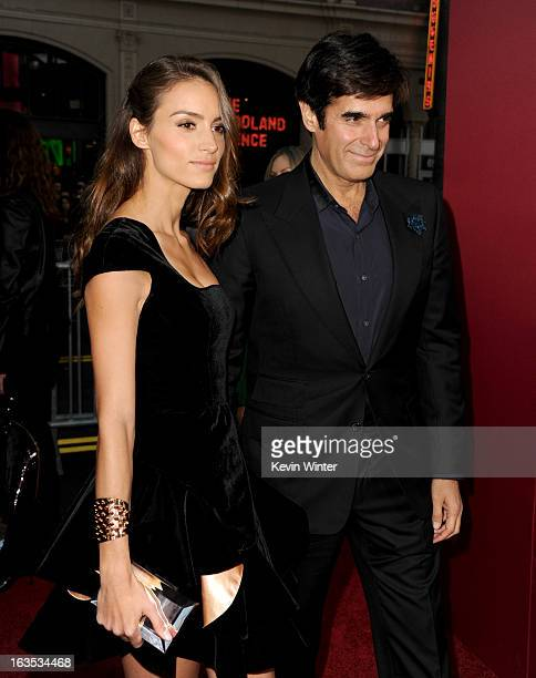 Illusionist David Copperfield and Chloe Gosselin attend the premiere of Warner Bros Pictures' 'The Incredible Burt Wonderstone' at TCL Chinese...