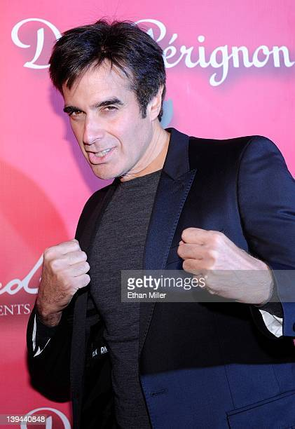 Illusionist David Copperfield arrives at the Keep Memory Alive foundation's Power of Love Gala celebrating Muhammad Ali's 70th birthday at the MGM...