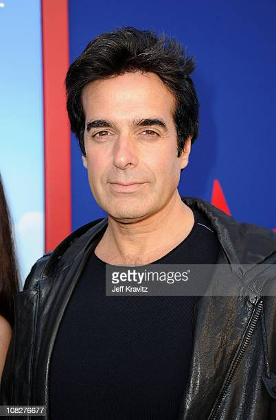 Illusionist David Copperfield arrives at the Los Angeles premiere of 'Gnomeo and Juliet' at the El Capitan Theatre on January 23 2011 in Hollywood...