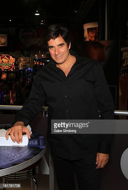 Illusionist David Copperfield attends the Global Gaming Expo at the Sands Expo and Convention Center on September 24 2013 in Las Vegas Nevada
