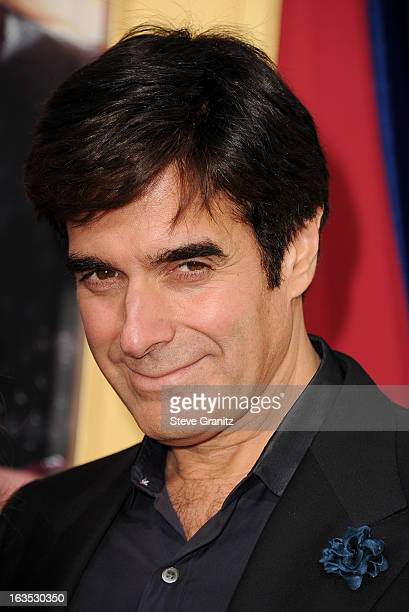 Illusionist David Copperfield attends 'The Incredible Burt Wonderstone' Los Angeles Premiere at TCL Chinese Theatre on March 11 2013 in Hollywood...