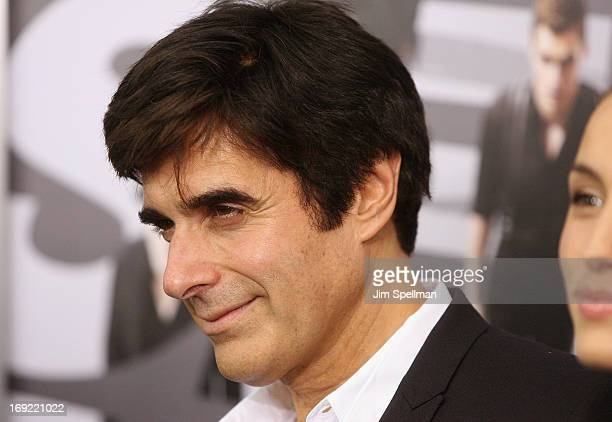 Illusionist David Copperfield attends the Now You See Me premiere at AMC Lincoln Square Theater on May 21 2013 in New York City