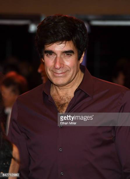 Illusionist David Copperfield leaves a memorial for Jerry Lewis at the South Point Hotel Casino on September 4 2017 in Las Vegas Nevada Lewis died on...