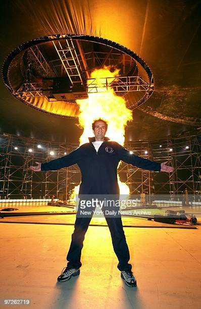 Illusionist David Copperfield promotes his upcoming TV special David Copperfield Tornado of Fire at Pier 94 W 55th St and West Side Highway The show...