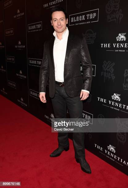 Illusionist David Goldrake attends the grand opening of Black Tap Craft Burgers Beer at The Venetian Las Vegas on December 29 2017 in Las Vegas Nevada