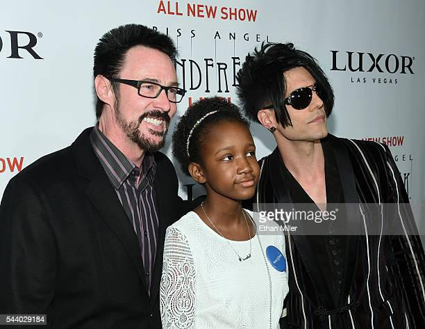 Illusionist Lance Burton Constance Perry from the MakeAWish Foundation and illusionist Criss Angel attend the world premiere of Criss Angel Mindfreak...