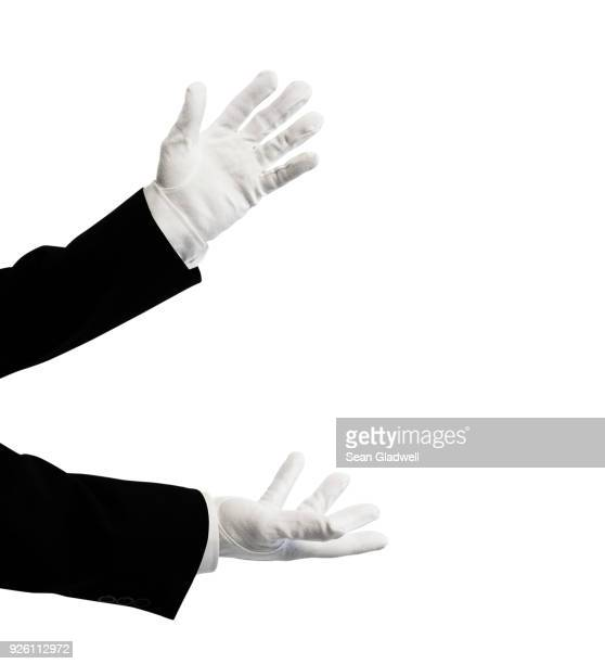 illusionist - white glove stock pictures, royalty-free photos & images