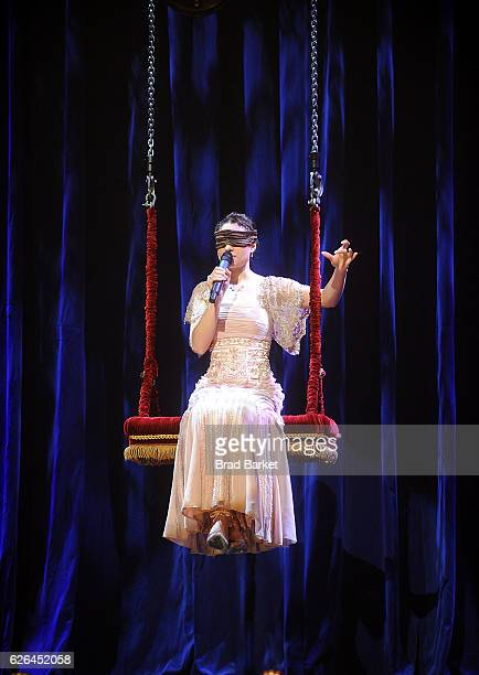Illusionists Amelie Van Tass attends The Illusionists Turn Of The Century Featuring The Clairvoyants Cast Photocall at The Palace Theatre on November...