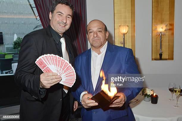 Illusionists Guillaume Bienne and Sam Sellem attend 'La Route Des Saveurs Les Secrets Des Grands Chefs Etoiles' Nadine Rodd's Launch Book At the...