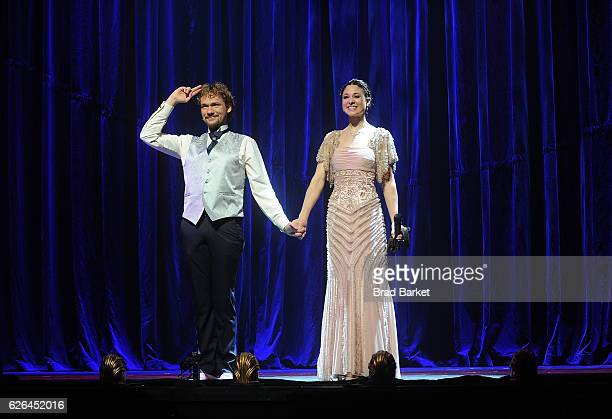 Illusionists Thommy Ten and Amelie Van Tass attend The Illusionists Turn Of The Century Featuring The Clairvoyants Cast Photocall at The Palace...